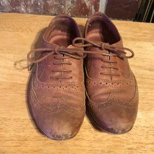 Brown vintage oxfords